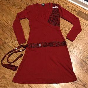 Desigual Red Cotton Dress Size L